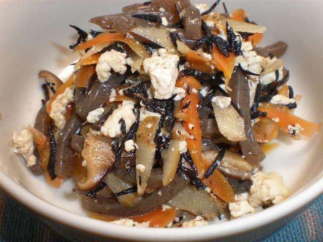 レンジで簡単いり豆腐