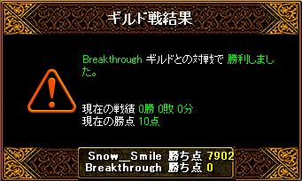 Gv Breakthrough2回戦