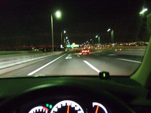 横浜ベイブリッジから望む都内の夜景