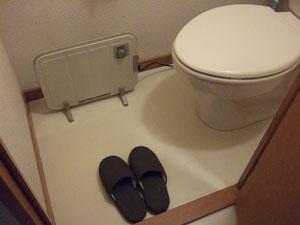 トイレにヒーターを設置
