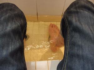 ロビーラウンジにある足湯