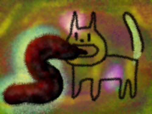 Pixiaで描いた猫の絵