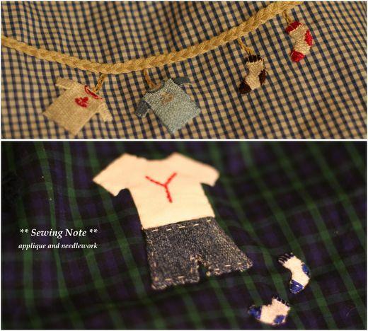 刺繍とアップリケ