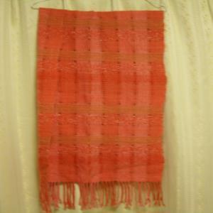 茜染め 抜き羽織りのストール