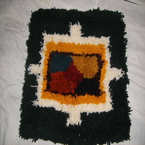 ノッティング織りのマット