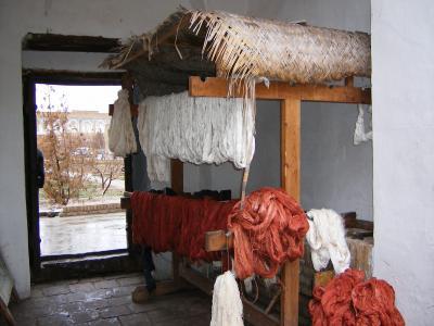 絨毯工房の染め場?