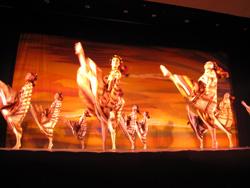 民族ダンスを取り入れたバレーの公演