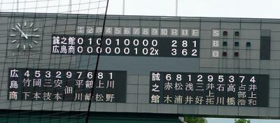 09.7.28 広商スコアボード