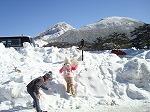 雪で大喜び 2011.1.8