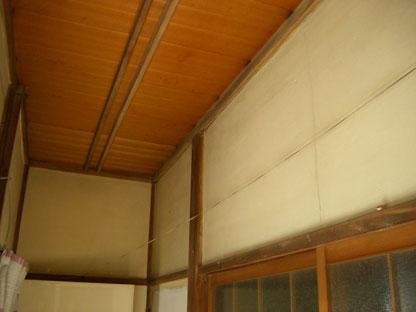 冬の日の日本式家屋