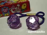 △ヘアゴム_ビーズ_紫