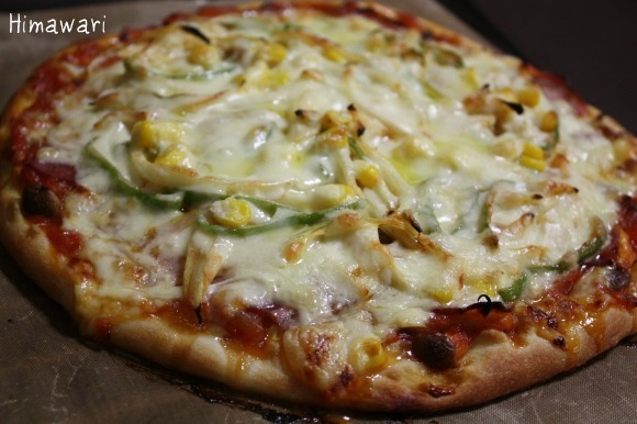 今年初ピザ