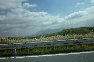 初めてみた阿蘇山。