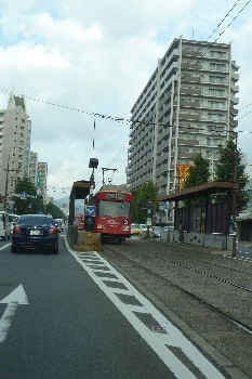 路面電車、多い~~!