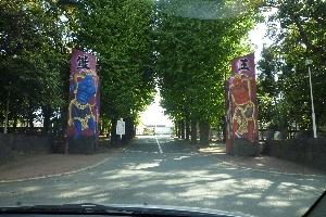 熊工の正門。