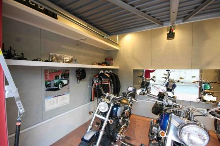 garage with harley
