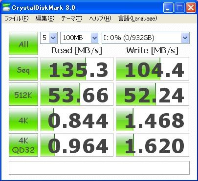 CrystalDiskMark 0S02601 100MB
