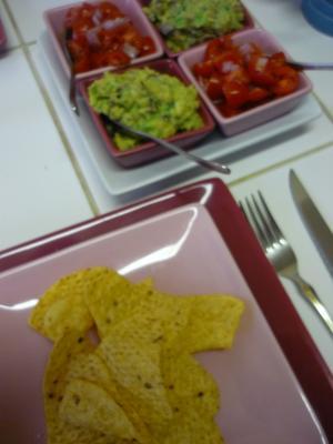 guacamole et salsa