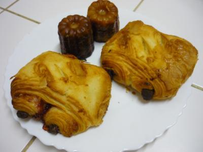 pain au chocolat et franboise
