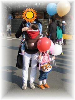 2010年4月ソウルの抱っこ紐①