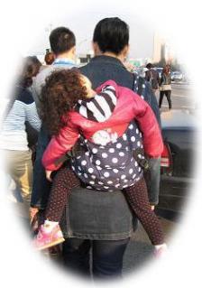 2010年4月ソウルの抱っこ紐④
