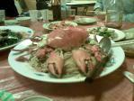 三重の蒸し蟹炒めソーメン