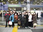 品川駅にて最後の記念写真