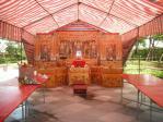 仮設廟の内部。2010鬼の月拝拝@三重