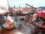 出張宴会料理の調理風景4