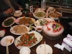 龜山島海鮮店の海鮮料理1