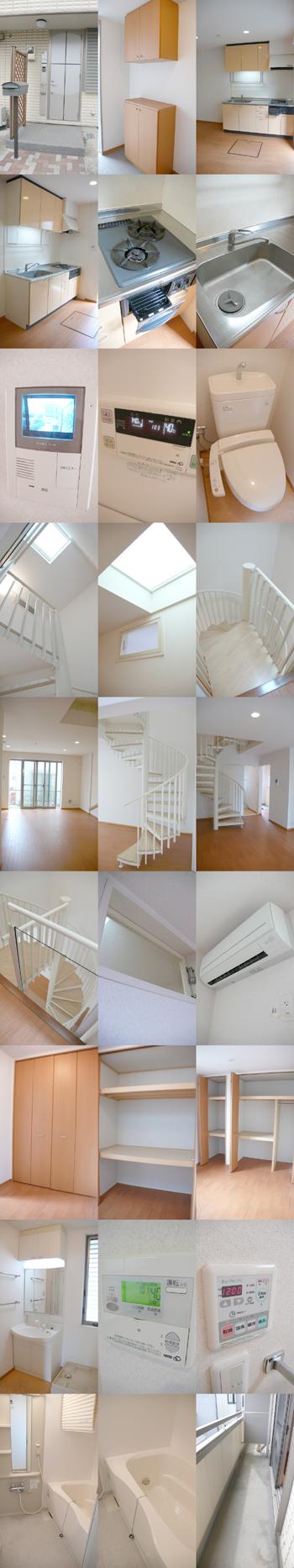 ■物件番号3847 海5分!らせん階段がオシャレな築浅2LDKテラスハウス!8.2万円!プレジオ西浜!
