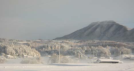 雪の毛無山