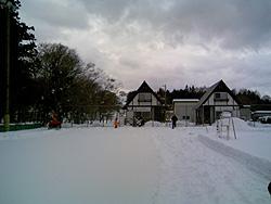雪合戦コート作り全景