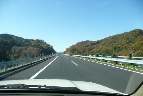北関東自動車道(笠間付近の紅葉)