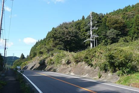 R349沿いの県道36号とのT字路付近