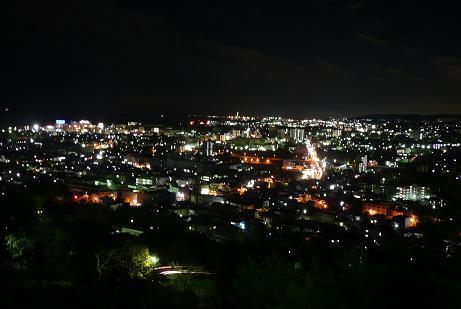 日立市街の夜景