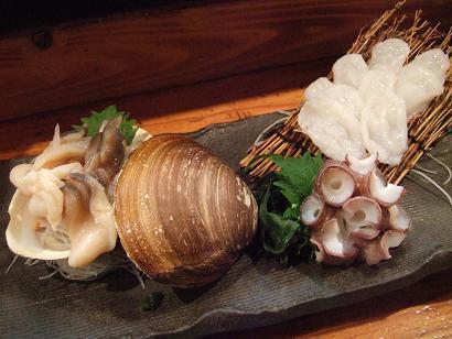 ほっき貝と水蛸の刺身