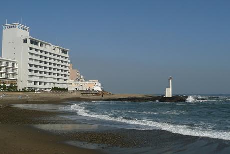 茨交大洗ホテル前に広がる平太郎浜