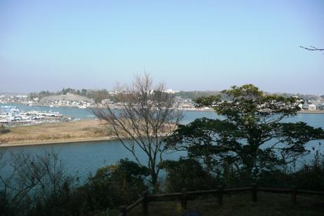 那珂川と涸沼川の眺望