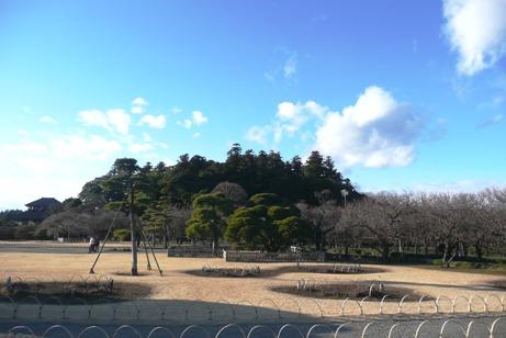 新春の偕楽園