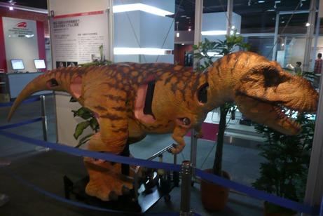 内骨格構造の恐竜