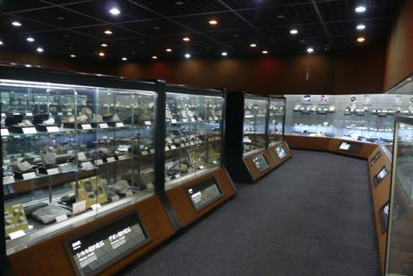 岩石・鉱物・化石などが展示された第4展示室