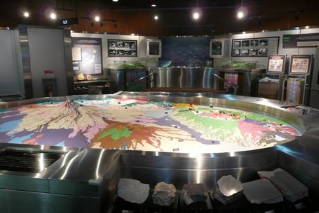 生活と地質現象が展示された第3展示室
