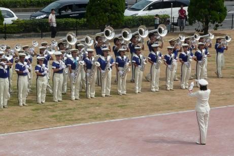 県立大洗高校のマーチングバンド
