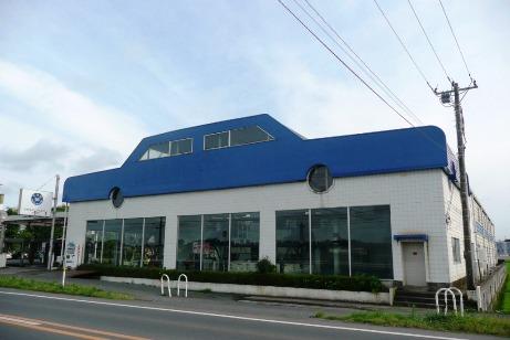 整備工場2階のオブジェ