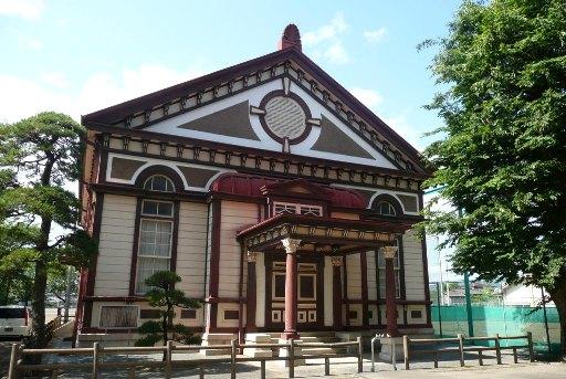 旧茨城県立太田中学校講堂