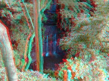 アナグリフ 上から見た滝
