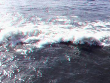 上から見た波