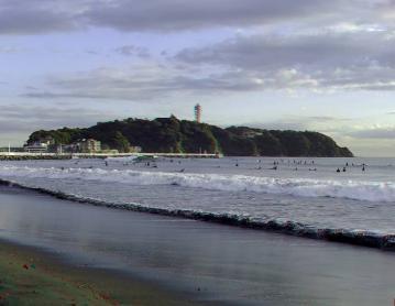 アナグリフ 夕景の江ノ島