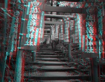 アナグリフ 佐助稲荷神社の階段を上がる